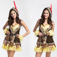 Wholesale Sexy Woman Robin Costume - 1set Sexy Cosplay Costumes Robin Hood Women Dresses Role Play Clothing Anime Game Uniforms Halloween Christmas Party Supplies