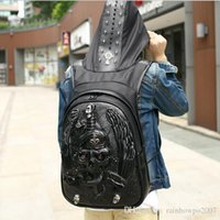 Wholesale Branded Hard Hats - Original Design Brand Mens Bag Of High-grade Leather 2D Stereo Snake Sword Man Backpack Street Boy Cool Personality Hat Willow Backpack