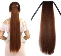 Wholesale long straight drawstring ponytail for sale - Group buy Sara Girl Woman Ponytails Drawstring Ribbon Long Straight Ponytail Pony Tail Horsetail cm quot Synthetic Clip in on Hair Extension