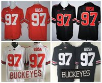 Wholesale College Baseball Uniforms - Ohio State Buckeyes 97 Joey Bosa Jersey Red Black White Color Joey Bosa College Jerseys Uniforms Stitched Quality Free Shipping