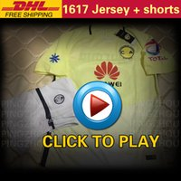 Wholesale Wholesale Men S Short Sets - 2017 Club America Men sets Mexican League soccer jersey kit 16 17 Club America Home Adult uniforms football shirts DHL Free shipping