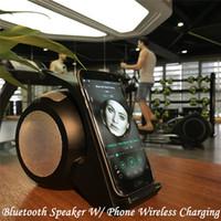 smartphone-dock großhandel-2016 neueste tragbare Bluetooth Mini Lautsprecher mit Wireless Ladestation QI kompatible Dock für Smartphone