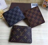 Wholesale Men Accessories Brand - top louis Plaid pattern men purses luxury brand women wallet vuitton designer wallets