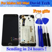 экран мини-сотового телефона оптовых-Wholesale- New Meizu Touch Screen Digitizer + LCD Display For Meizu M2 mini 5.0 inch Cell Phone Black Color With Frame Gifts Free Shipping