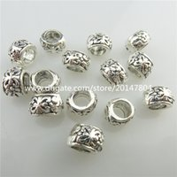 Wholesale 19527 pc Vintage Silver Alloy Tone Jewelry Crafts Loose Findings Flat Flower mm European Bead for Bracelet