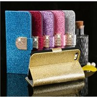 Wholesale Leather G3 Iphone Flip Case - Glitter Bling Diamond Flip PU Leather Wallet Case for LG G4 G3 with Stand Holder Card Slot