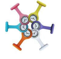 pflegeuhren freies verschiffen großhandel-Freies Verschiffen Fabrik-Preis-Art- und Weisekrankenschwester-Taschen-Uhr-Silikon-Krankenschwester-Uhr-bunte Gelee Süßigkeit-Doktor-Uhren