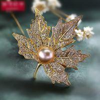 gelinlik broşları toptan satış-Vintage Rhinestone Broş Pin Altın-plaka Alaşım Inci Sahte Diamente Broach korsaj gelin düğün davetiyesi kostüm parti için elbise pin hediye