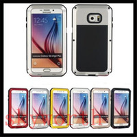 Wholesale Case S4 Waterproof Metal - ShockProof Waterproof Gorilla Glass Aluminum Metal Case Premium Protector For iphone 4S 5S 6 6S plus Samsung Galaxy S3 S4 S5 S6 Edge