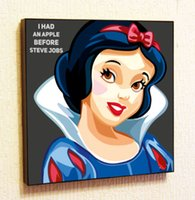 Wholesale White Wall Quote Decals - Snow White Painting Decor Print Wall Art Poster Pop Canvas Quotes Decals