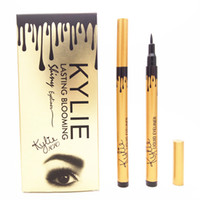 Wholesale Pencils Tube - NEW makeup KYLIE gold tube liquid eyeliner pencil lasting blooming gold box Long-Lasting free shipping