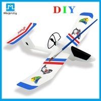 Wholesale Airplane Drawings - 2016 USA shipping Christmas Gifts App Control the Lightest Glider Airplane EPP Material diy plane for Kids DHL Free Shipping