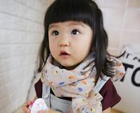 Wholesale Scarves Korea - 66 colors Kids scarves Baby Boy girl scarf Accessories Cotton linen soft Korea fashion print leaf scarves wraps wholesale 2016 new 1-10T