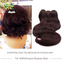 Wholesale Cheap Red Human Hair Extensions - 7a Unprocessed Short Fashion Brazilian Body Wave 8 Inch 99j Red Hair Extensions Human Hair Weaves 6 Pcs 300g Cheap Burgundy Brazilian Hair