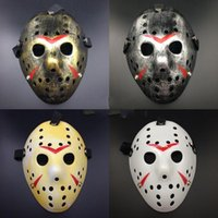 Wholesale face decor resale online - Jason Mask Thicken Plastic Retro Style Halloween Masquerade Cosplay Horror Wacky Full Face Party Masks Home Decor gn F R