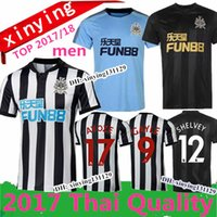Wholesale Thai Quality - new 2017 2018 Newcastle United Home men Soccer Jerseys GAYLE MITROVIC RITCHIE Football Shirt 17 18 Newcastle Away third Jersey Thai Quality