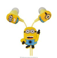 Wholesale Despicable Cell - Despicable Me Minions Cartoon Earphone In-ear Wired 3.5 mm Headphone Headset for MP3 MP4 Mobile Phone With Earplug Cover EP338