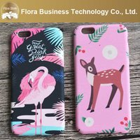 Compra Rosa-Moda mix bellezza rosa modello cartoon pittura disegno cassa del telefono per iPhone 5 5 s 6 6 s 6 plus 6 splus