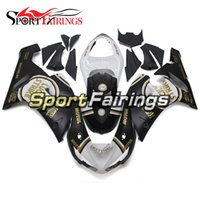 Hulls Fairings Pour Kawasaki ZX6R 636 2005 2006 05 06 ABS Injection Plastic Motorcycle Fairing Kit Cowlings Black White Panels