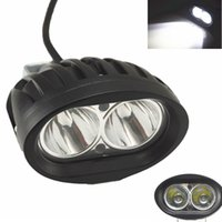 Impermeável 12-80V Motocicleta LED Headlight Headlamp Motocicleta Fog Head Lights Universal para Pit Bike Spot White