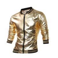 Wholesale Mandarin Collar Leather Jacket - 2017 New Bomber Jackets men Jacket clothing Fashion Top Quality patch leather Coat Winter Autumn Sportswear Coats Size M-2XL