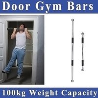 Wholesale Pull Up Door - 60-100cm Thicken Indoor Fitness Horizontal Pull-up Bar Door Portable Door Gym Way Gym Bar Chin Up Bar free shipping