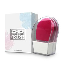 Wholesale Electric Scrubber For Face - Electric Silicone Chargeable Facial Scrubber Cleansing Brush Device for Girls Woman, Ultrasonic Waterproof Rechargeable Face Brush Cleanser
