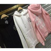 Wholesale Kpop Sweatshirt - 2016 FALL ANTI SOCIAL SOCIAL CLUB Hoodie Men HipHop Kpop Kanye West Sport Skateboard Hoodies hooded Sweatshirt black pink white