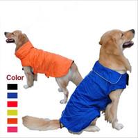 Wholesale Large Jumpsuit - Pets Apparel Dog Clothes Waterproof Jackets Durable Soft Comfort Nylon Dog Jumpsuits Vest Design Cloth Multi Colors Size M L XL YYA336