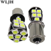 Wholesale Led White Bulbs Error - WLJH Canbus No Error Led BAU15s PY21W 7507 581 1156PY 5050 Chip 21 SMD 12v Lamp Auto Car Light Front Turn Signal Bulbs