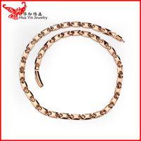 Wholesale Sapphire Tennis Necklace - 2016 energy health care lady necklace wholesale pure titanium necklace high quality lady TITANIUM CONE germanium necklace gold 52 0.7mm free