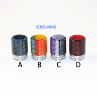 Wholesale Colorful Flower Designs - 8 types Drip tip Epoxy Resin Drip Tips Short 510 Drip Tip For RDA Atomizers Vape Colorful Wide Bore Mouthpiece unique flower design