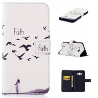 Wholesale Faith Case - Cartoon Wallet Leather Case Flower Pouch Stand ID Card TPU Dandelion Be free Faith For Samsung Galaxy J510 A510 2016 J5 A5 S7 EDGE PLUS Skin