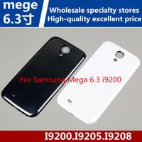 Wholesale Mega Covers - For Samsung Mega 6.3 i9200 Cell Phone Back Cover I9205 Battery Back Cover I9208 Rear Case Back Case