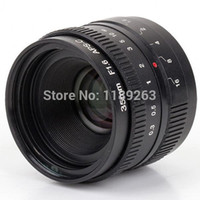 Wholesale fuji camera wholesale online - 35mm f1 APS C CCTV lens C mount for Mirrorless Sensor Camera Sony NEX Pentax Panasonic M4 Micro Fuji FX E0SM N1 PQ cap