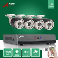 Wholesale Dvr Home Surveillance Security Camera - DHL FREE ANRAN 4CH HDMI 1080N AHD DVR HD Day Night 1800TVL 36IR IR-Cut Waterproof Outdoor Security Camera CCTV Home Surveillance System