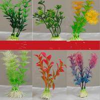 ingrosso pesci di pesci di casa piante artificiali-Home Garden 10 cm Underwater Artificial Plant Grass per acquario Fish Tank Landscape Decor