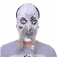 New Arrival Halloween Prank Prop olhos vermelhos Bloody Scar Mask Zombie Full Face Mask trajes cosplay party Máscara com bigode