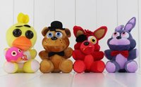 Hot Game Five Nights at Freddy's Plush FNAF Bonnie Foxy Freddy Plush Toy Stuffed Soft Dolls 13-18cm Frete Grátis