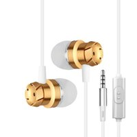 Wholesale ip earphone - Headphones In-Ear Earphone with Mic and Remote Stereo 3.5mm Headset for ip for Samsung S8 Headphones
