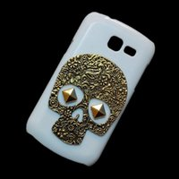 Wholesale Galaxy Trend Hard Cover - Case Cover for Samsung Galaxy Trend Lite S7390 S7392, Retro Vintage Bronze Metallic Skull Punk Stud Rivet Hard Back Protective Skin Shell