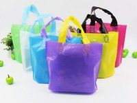 Wholesale Wholesale Bags Cheaper - Cheaper !!! Reusable Grocery Bags plastic bag Heavy Duty Shopping Bags Tote Bags with long Handles plastic clothes packing bag (7)