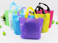 bolsas de trabajo pesado al por mayor-Más barato !!! Bolsas de supermercado reutilizables bolsa de plástico Bolsas de compras de alta resistencia Bolsas de mano con asas largas bolsa de embalaje de ropa de plástico (7)