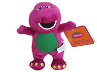 Wholesale Barney Christmas - Wholesale- 20cm Barney and friends plush dolls purple dinosaur kids stuffed soft mascot juguetes toy girl birthday gifts