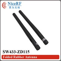 Wholesale Wholesale Folding Antenna - Wholesale-20pcs lot SW433-ZD115 433MHz Gain 2.15 dBi Folding Rubber Antenna with Male SMA head for wireless module