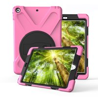 """Wholesale Ipad Air Multi Color Case - Cover For iPad Mini 123   Air 1,Kids Baby Safe Armor Stand Shockproof Heavy Duty Silicone Hard Screen Case For ipad 9.7""""(New 2017 Modle)"""