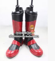 black lyrical costumes - Magical Girl Lyrical Nanoha Vita Cosplay Boots shoes new version JZ179 hand made Custom made