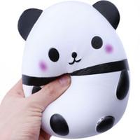 gros panda doux jouet achat en gros de-Squeeze Panda Oeuf Jouet Jumbo Lent Rising Kawaii Super Big Panda Ball Doux Mignon Oreiller Main Crème Douce Parfumé Soulagement Jouet