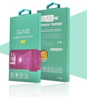 Wholesale Paper Securities - Tempered glass membrane with hooks paper packaging Apple Samsung universal mobile phone security film packaging stock grant