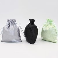 Wholesale door gift wedding - Jewelry Storage Bags Packing Gift Drawstring Bag Multi Color Mini Bundle Pocket For Wedding Supplies Portable 0 73dy C R